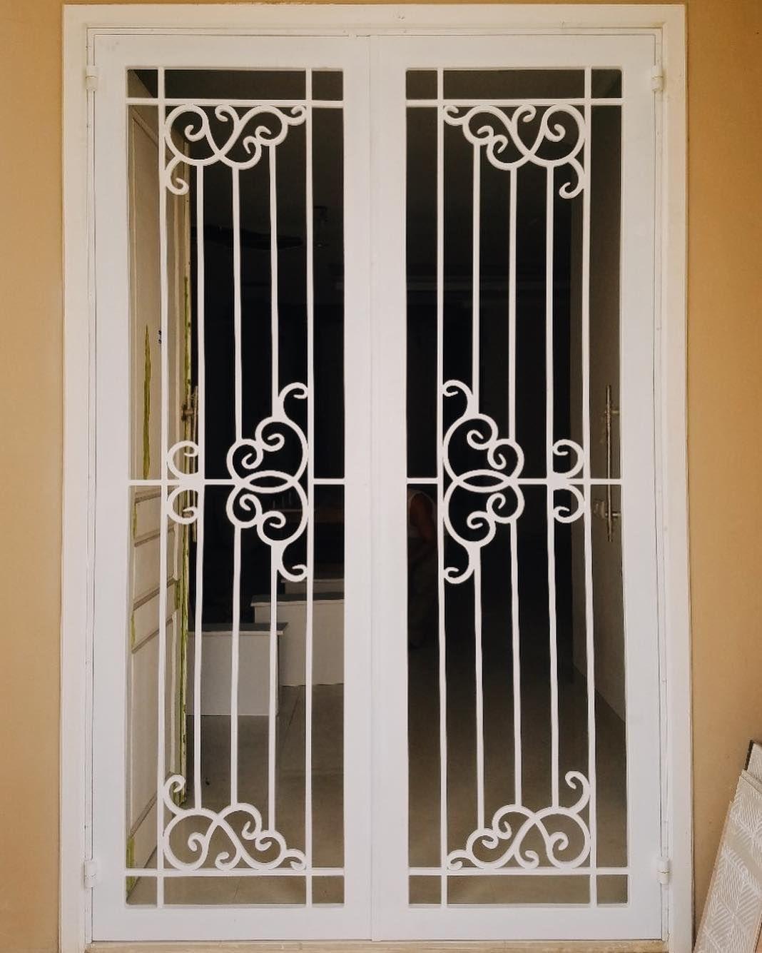 Project iron front door modern doors grill design also classical window metal art rh pinterest