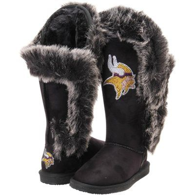 265eb2d2424 Minnesota Vikings Cuce Shoes Women s Victorious Boots - Black ...