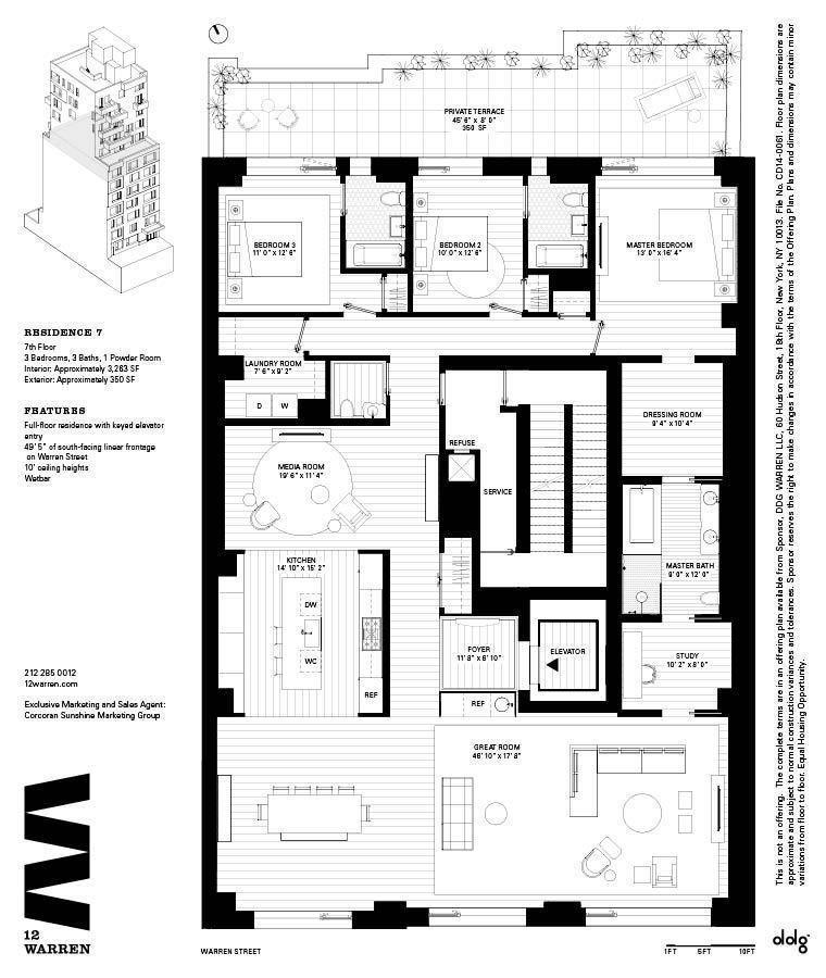 Name Address 12 Warren Street Developer Architect Ddg Size 12 Floors 13 Units Prices Apartment Floor Plans House Floor Plans Residential Architecture Plan