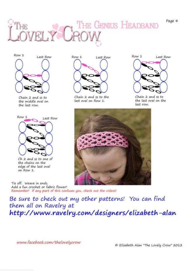 The Genius Headband By Elizabeth Alan The Lovely Crow Ravelry