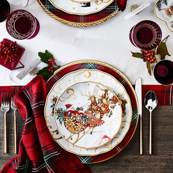 Twas the Night Before Christmas Dinner Plates Santa & Twas the Night Before Christmas Dinner Plates Santa | Christmas ...