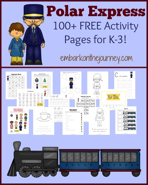 Polar Express Worksheets Free