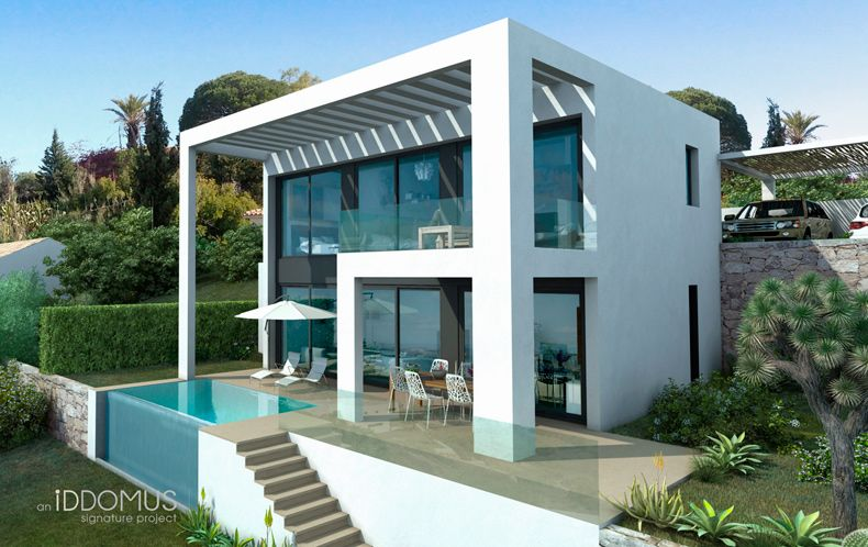 Modern architecture iddomus minimalist villa in estepona for Modern minimalist villa