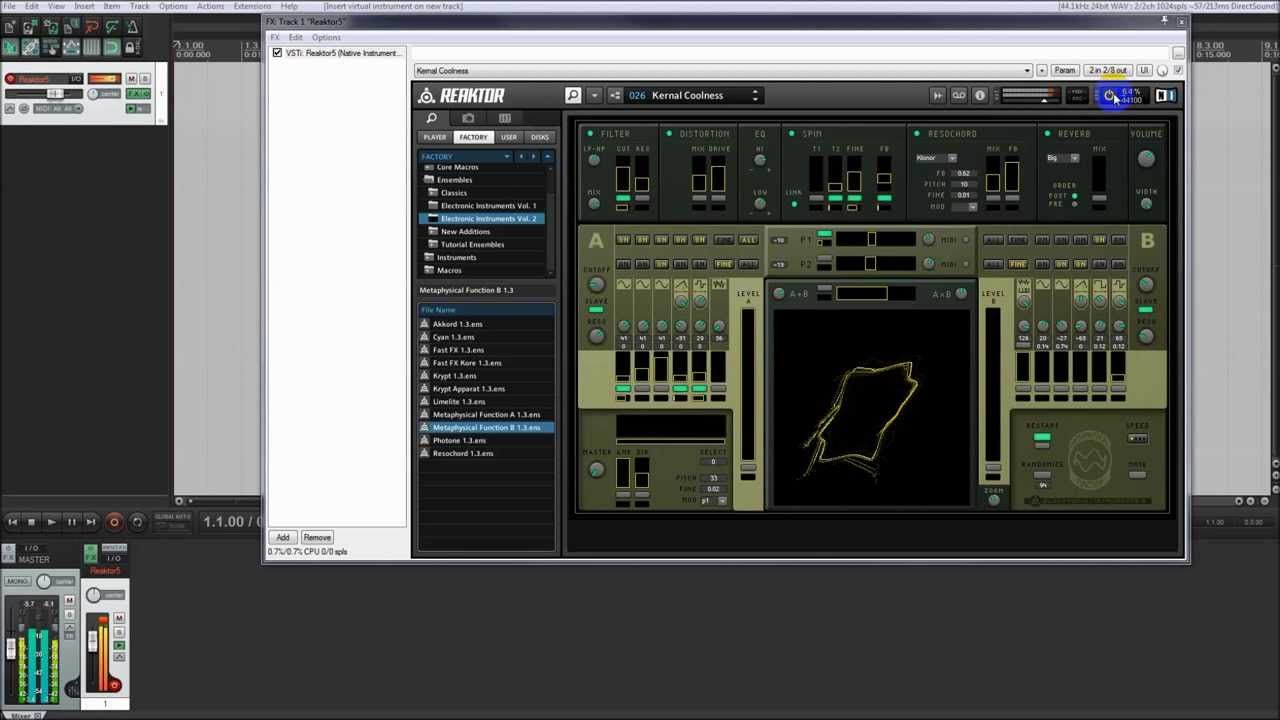 How To Record Metaphysical Function In Reaper And Reaktor Metaphysics Records Reaper