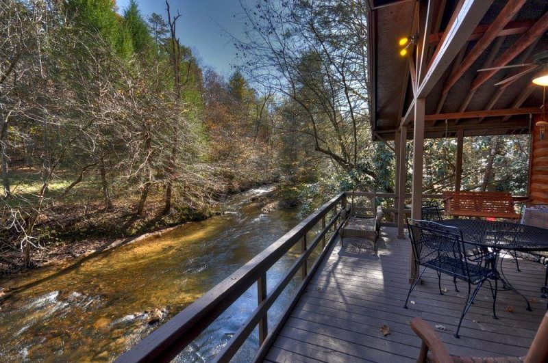 Down on the Creek in Blue Ridge North GA Cabin Rental