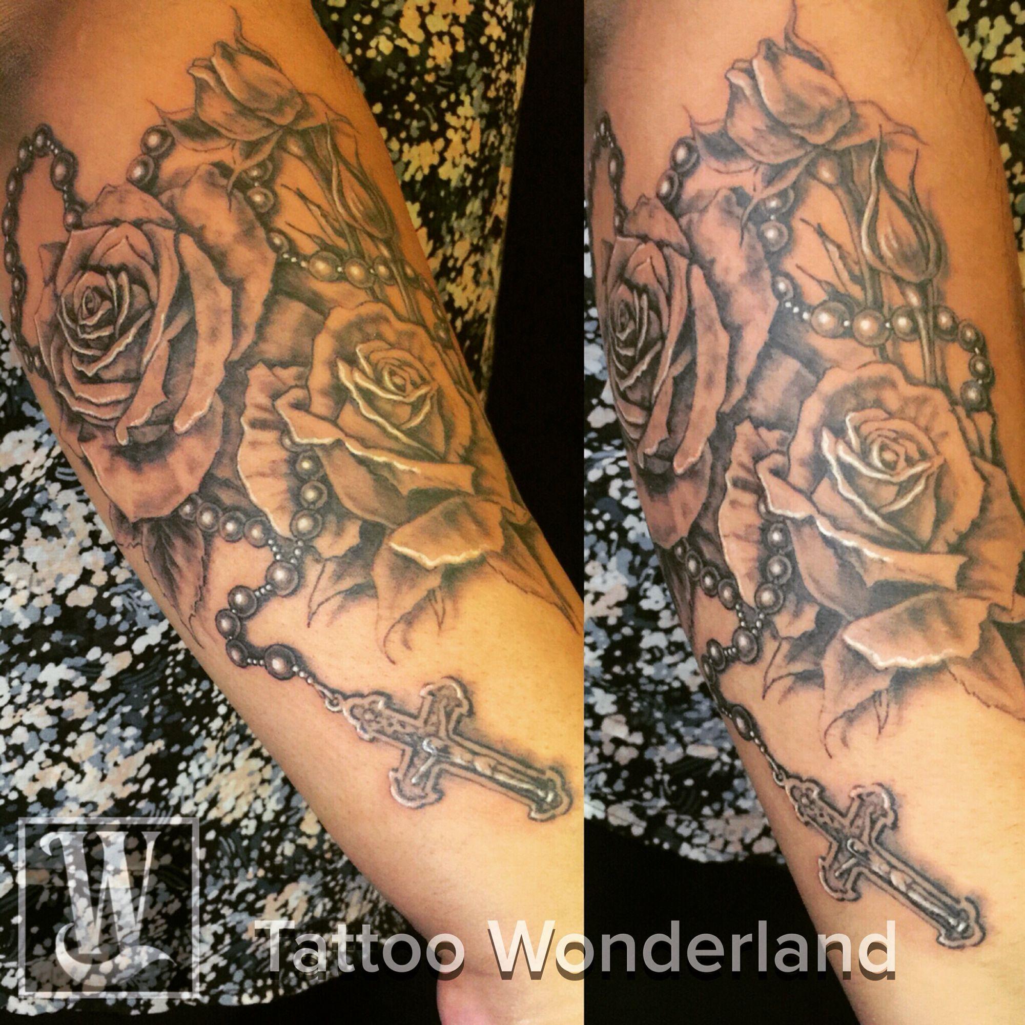 9a3b8b1b03627 Tattoo Wonderland | Sweet tattoos | Roseary tattoo, Rose tattoos ...