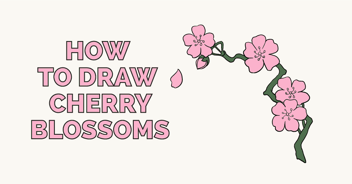 How To Draw Cherry Blossoms Really Easy Drawing Tutorial Cherry Blossom Drawing Drawing Tutorial Easy Drawing Tutorial