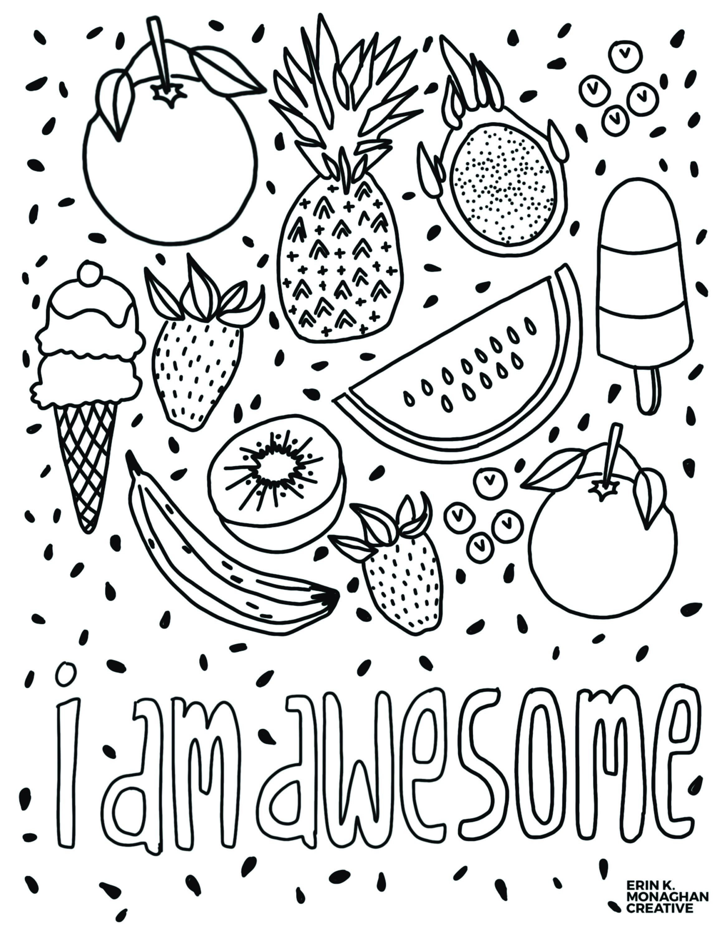 I Am Awesome Coloring Sheet