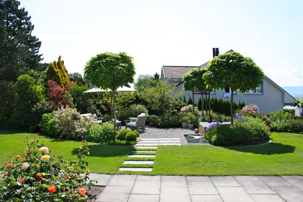 EHF-Gartengestaltung-Garten-Sitzplatz-gestalten Garden Pinterest - vorgarten gestalten mit kies und grasern