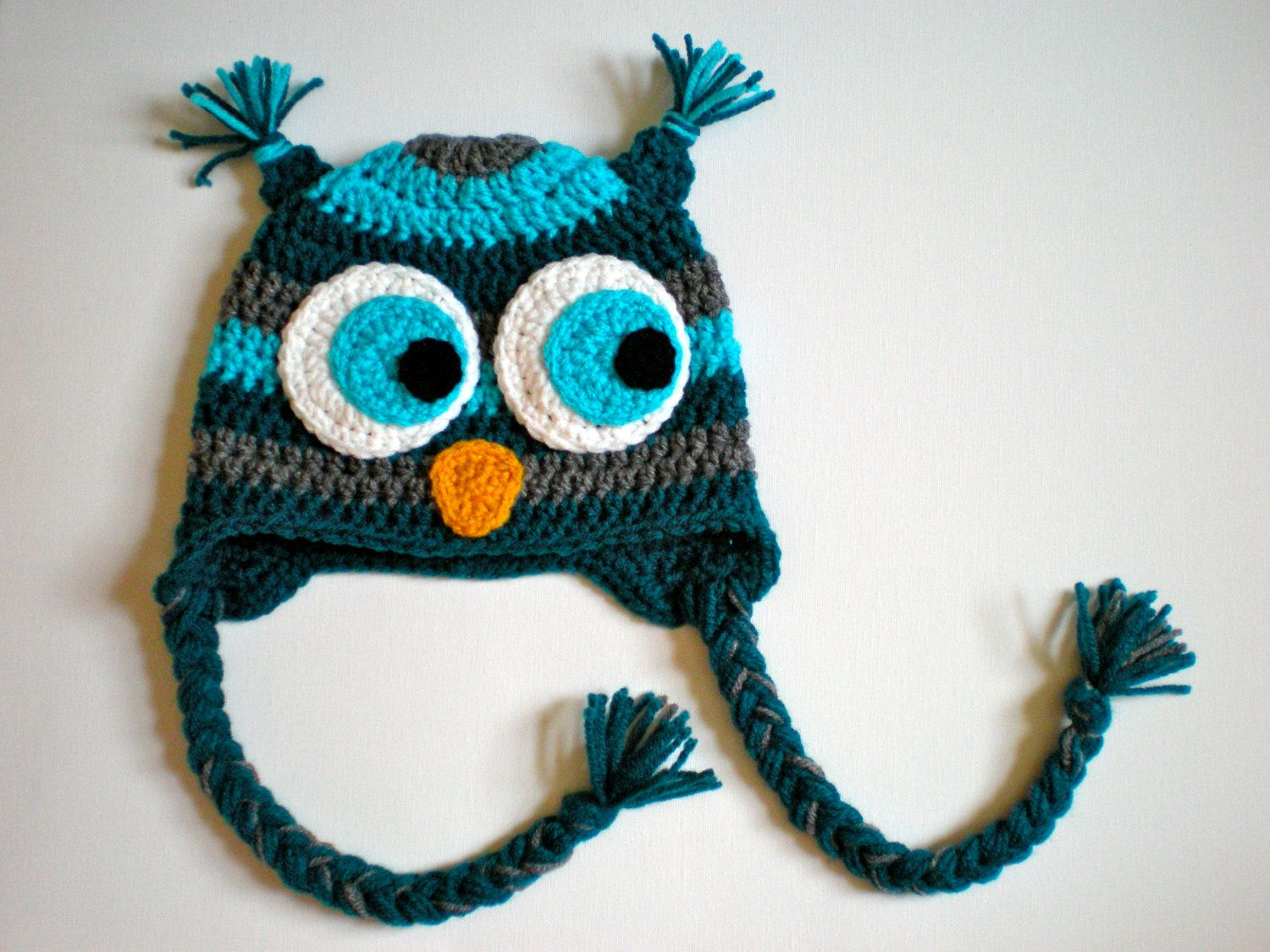 Pattern striped owl hat size newborn to adult baby hat kid hat pattern striped owl hat size newborn to adult baby hat kid hat animal hat easy crochet pdf instant download permission to sell bankloansurffo Image collections