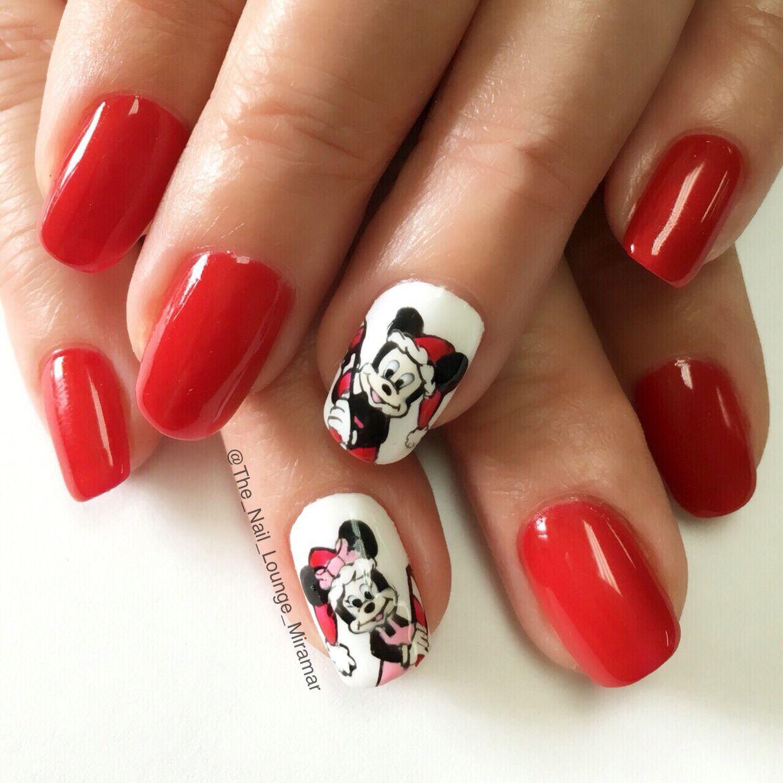 Disney Mickey Minnie Mouse Christmas nail art design | Nail Art ...