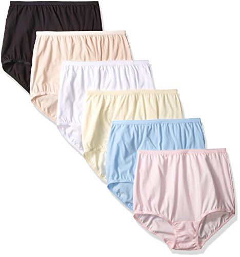 56e76fd0d8ab Vanity Fair Womens 6 Pack Perfectly Yours Tailored Cotton Brief Panty 15316  Star WhiteFawnCandleglowSachet BlueBallet PinkMidnight Black 7 ** Want to  know ...