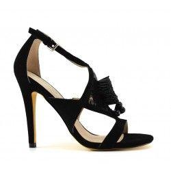 18ace4dd1d918 La sandale Marion de chez Liu JO est un peu plus sage que sa copine Marise  question couleur... Chic et sobre !  MARION  S16141  Liujo