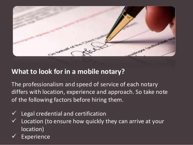 Benefits Of Mobile Notaries Quick Notarization Of Documents