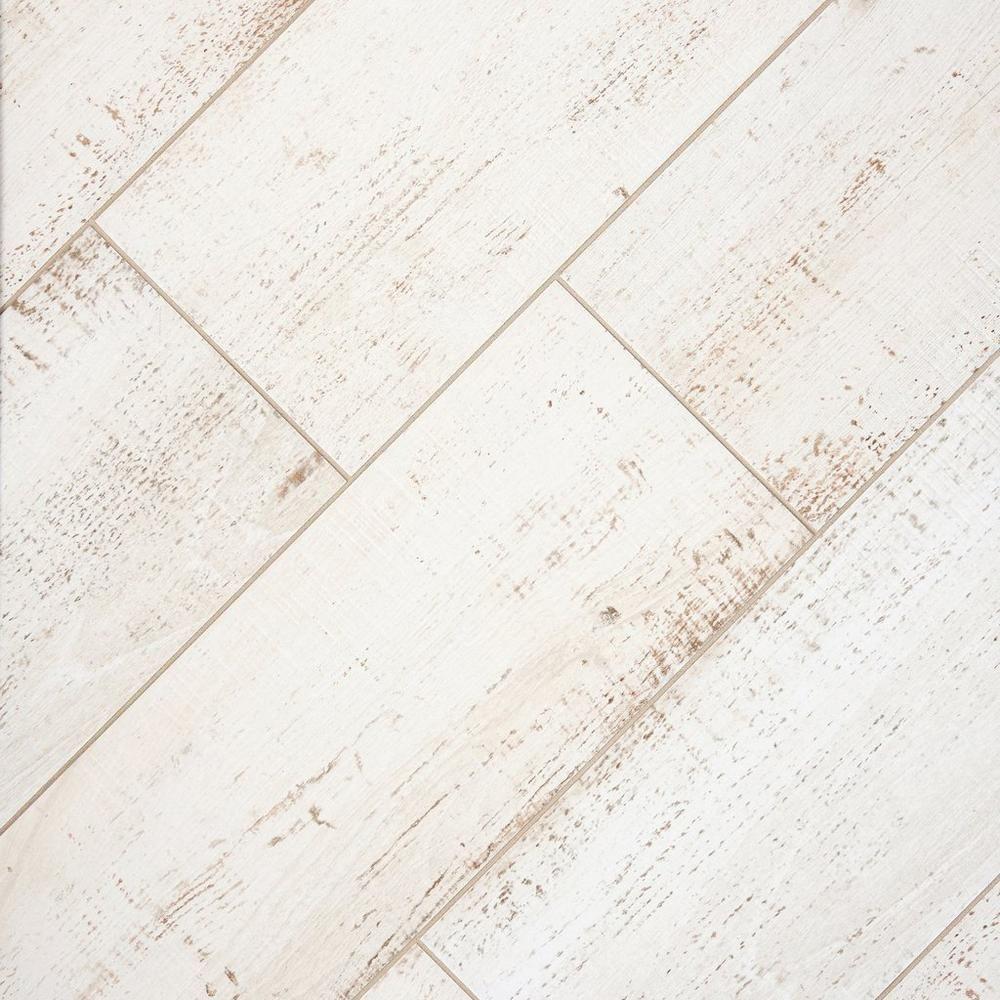 Windsor White Wood Plank Porcelain Tile In 2020 White Wood