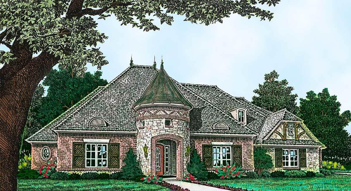 Plan 48555fm Distinctive European House Plan In 2021 European House Castle House Plans European House Plan