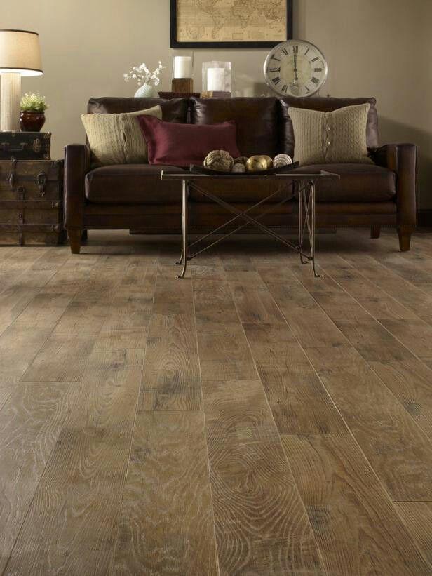 Trend distressed light wood floor espresso furniture
