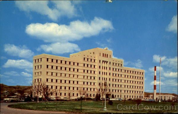 The old John Moses Military Hospital in Minot ...
