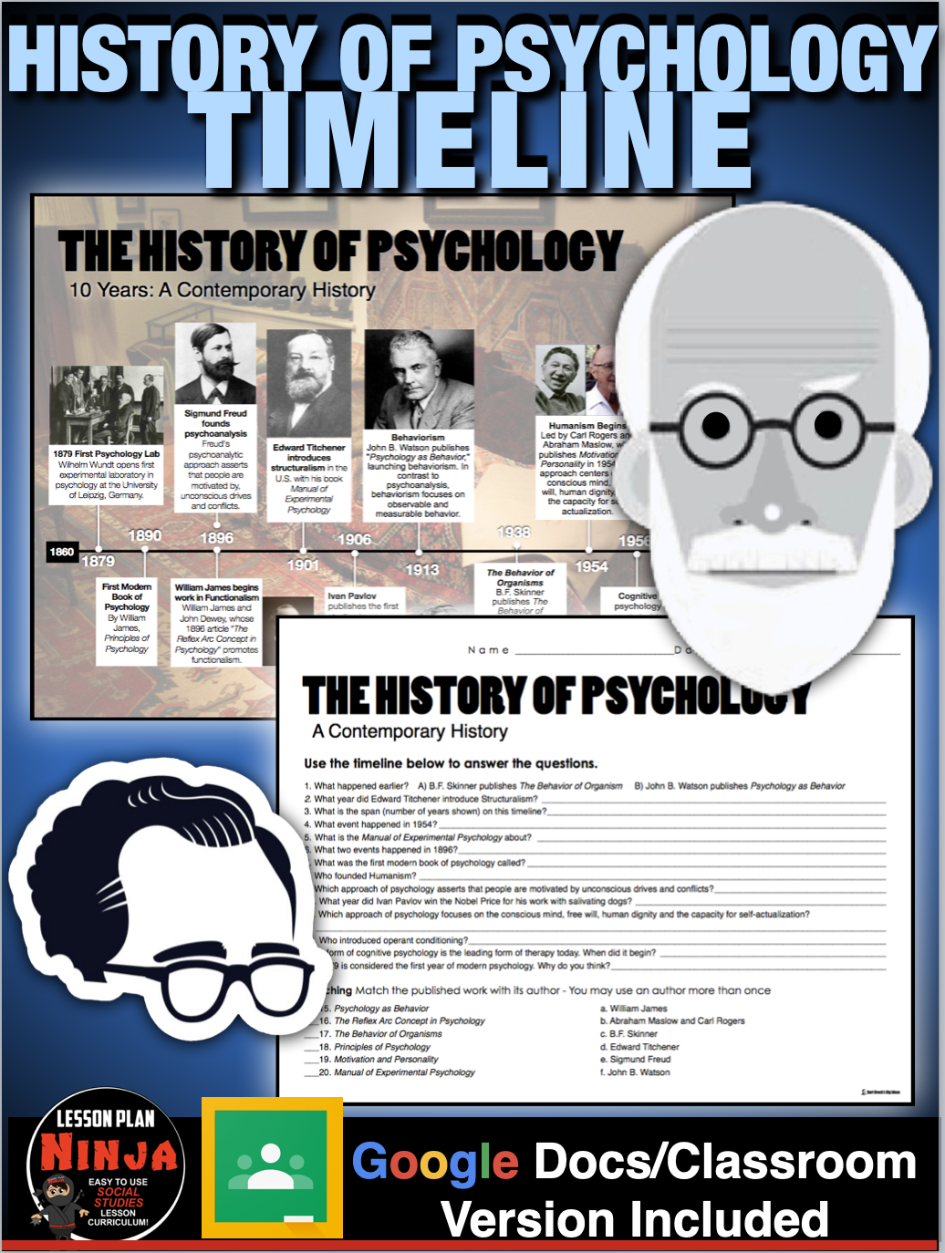 Psychology History Of Psychology Timeline Distance Learning Version In 2020 History Of Psychology Psychology Teaching Psychology