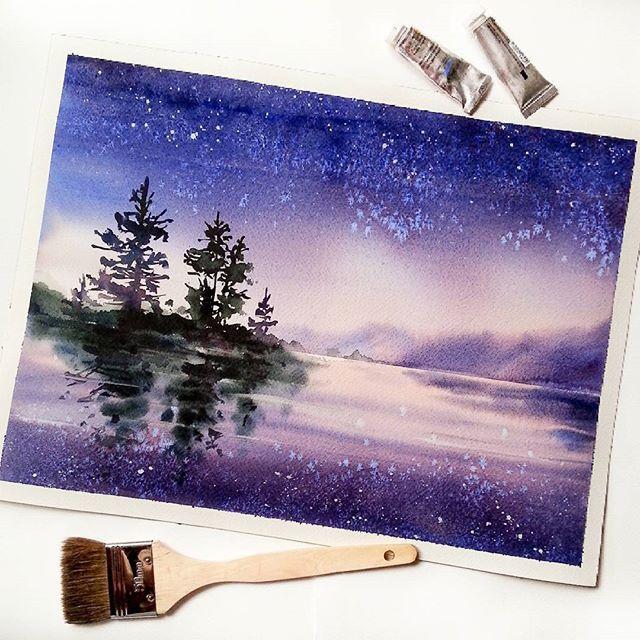 Watercolorist Nadja Leutloff Waterblog Akvarel Aquarelle