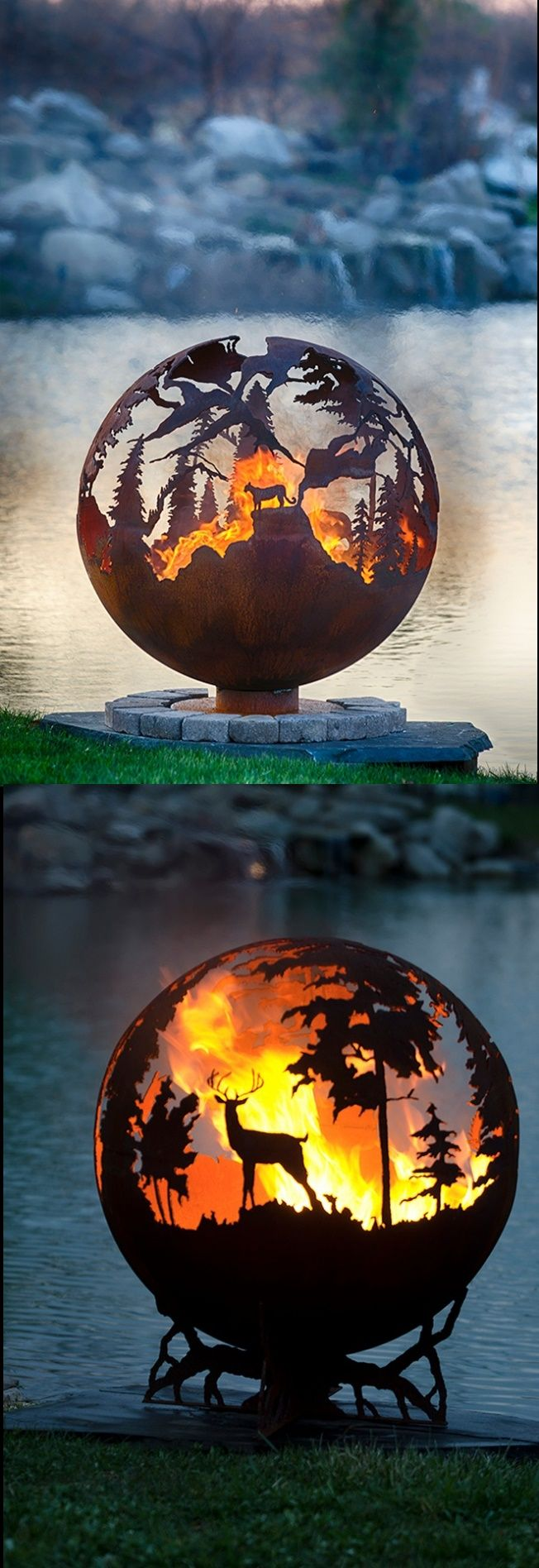 Third Rock Fire Pit - Fire Pit Globe... Each wood and gas ...