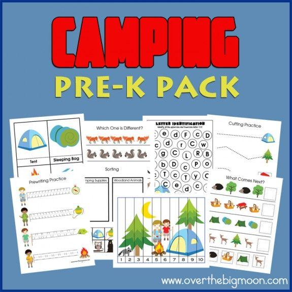 Free Camping Pre-K Printable Pack | Camping, Kita und Kind