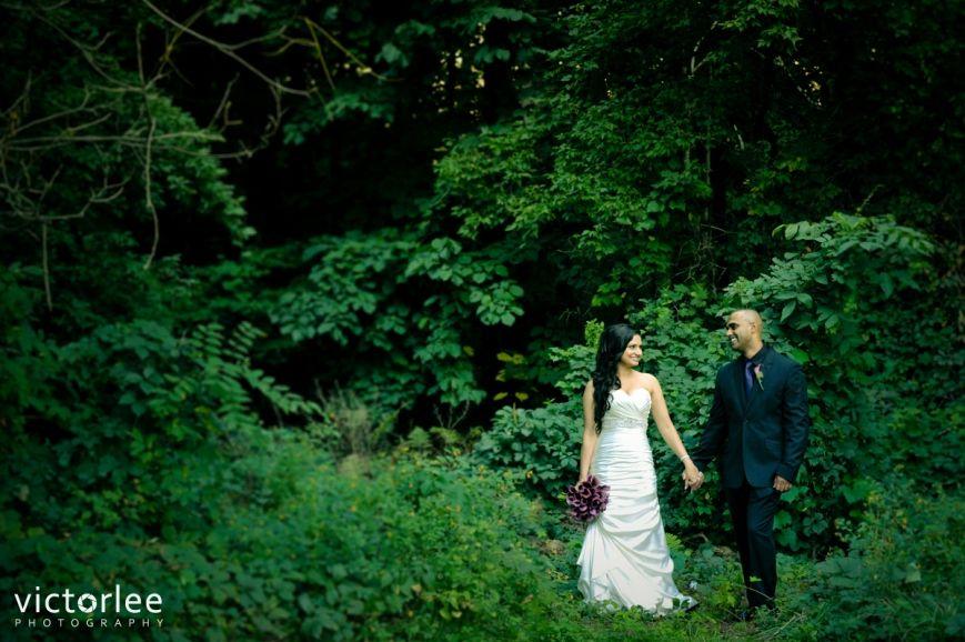 Bride & Groom forest photo, West River Event Centre