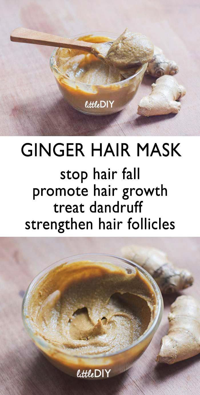 GINGER HAIR MASK FOR HAIR FALL AND THINNING HAIR   BEST TIPS