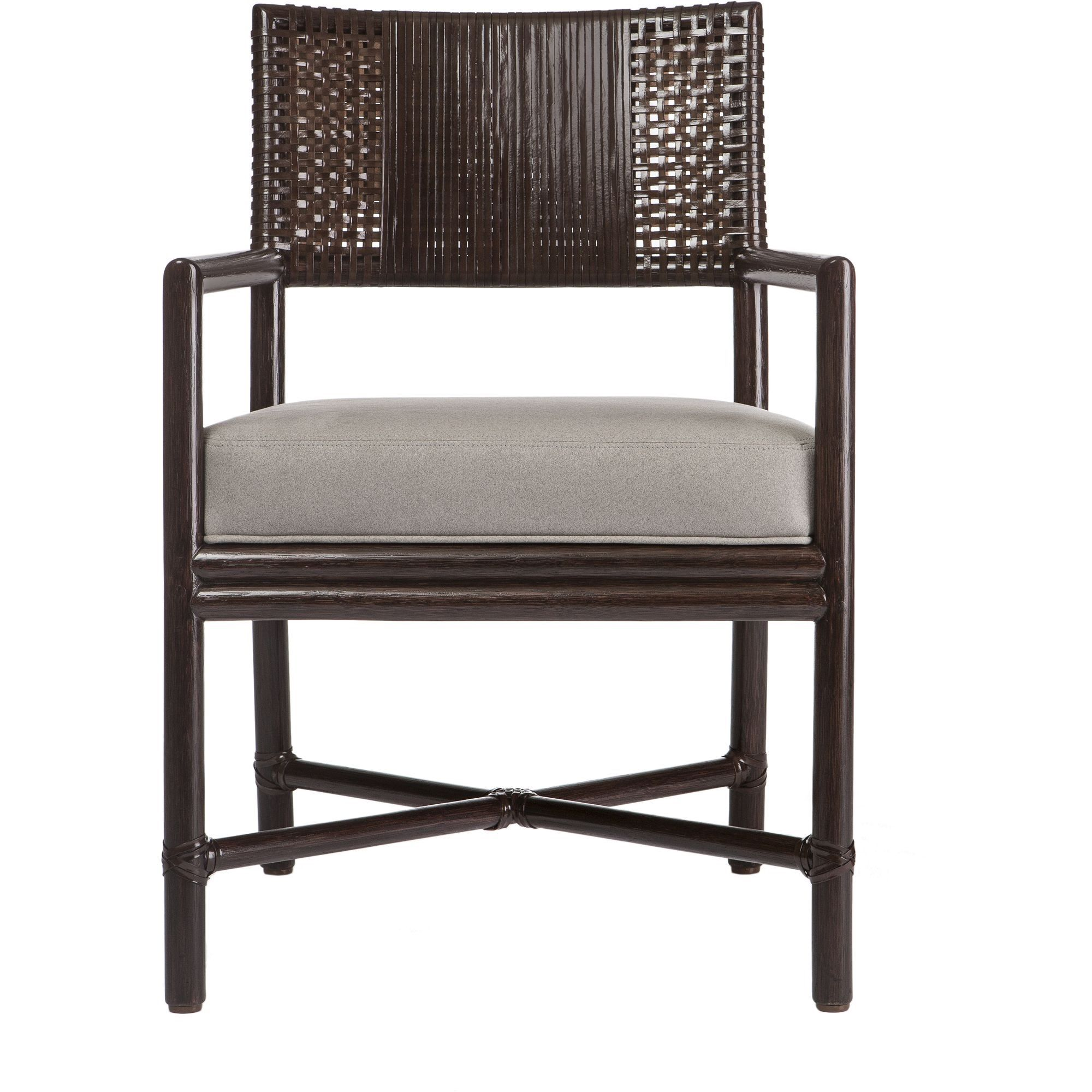 Buy Alameda Dining Arm Chair By McGuire Furniture   Quick Ship Designer  Furniture From Dering Hallu0027s
