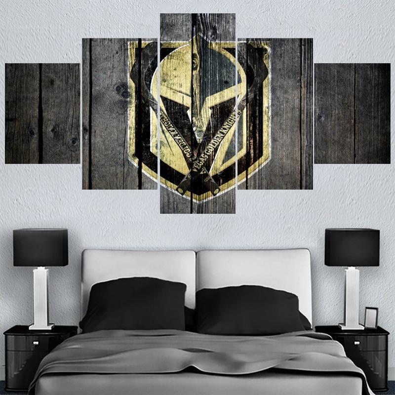 Vegas Golden Knights Wall Clock Home Office Room Decor Gift