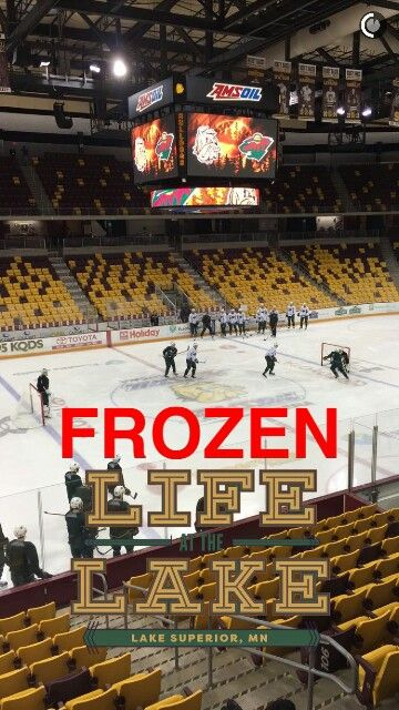 Minnesota Wild Practicing At Amsoil Arena Duluth Mn Hockey
