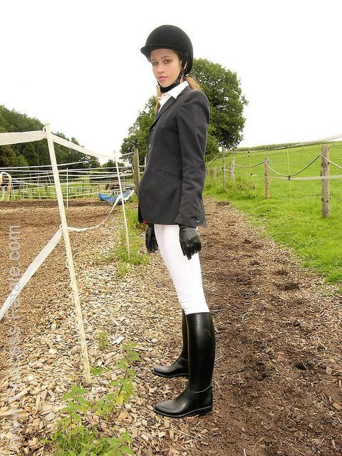 Black Rubber Riding Boots | Riding Boots | Pinterest | Black ...