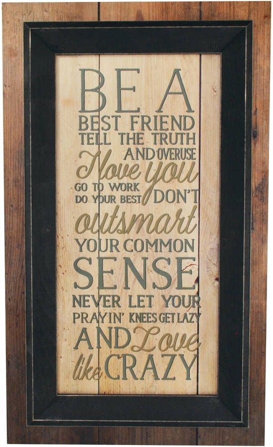 Etsy Be A Best Friend Overuse I Love You Framed Timberprintz Pallet