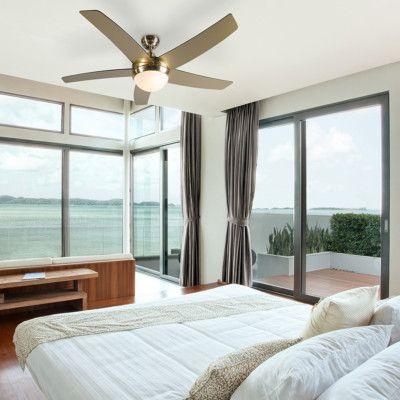 Deckenventilator Gold Mit Fernbedienung Cool Schone Schlafzimmer Schlafzimmer Design Luxusschlafzimmer