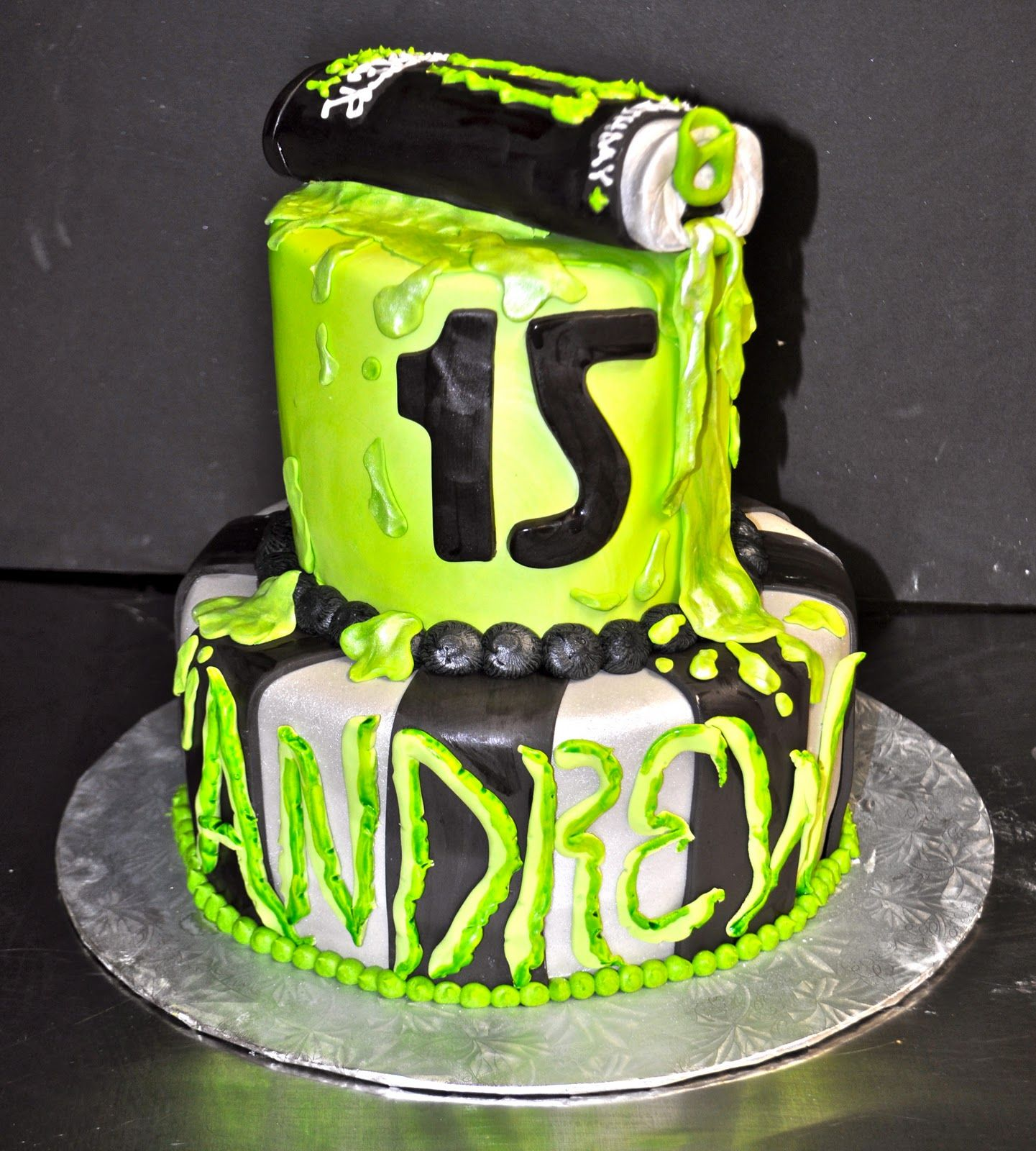 """Andrew's 15th Birthday With The Theme Of """"Monster Energy"""