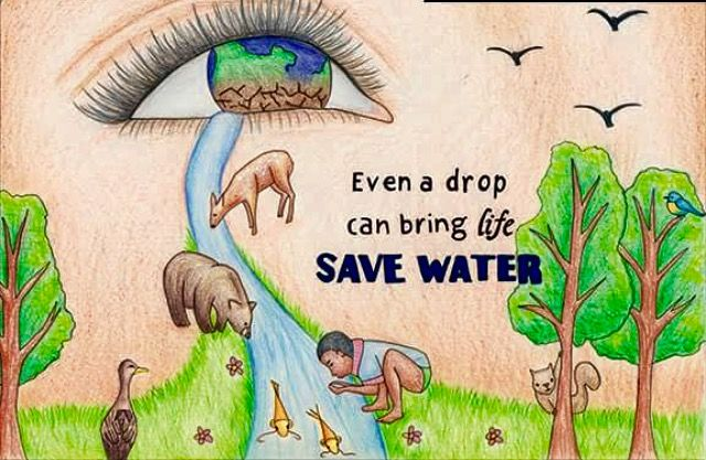 Earth Day April 22nd Save Water Poster Drawing Water Poster Save Water Drawing