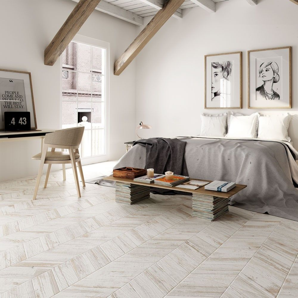 Bococa White Wash Chevron Wood Tiles White Wood Floors Wood Effect Tiles Wood Effect Floor Tiles #wooden #tiles #living #room