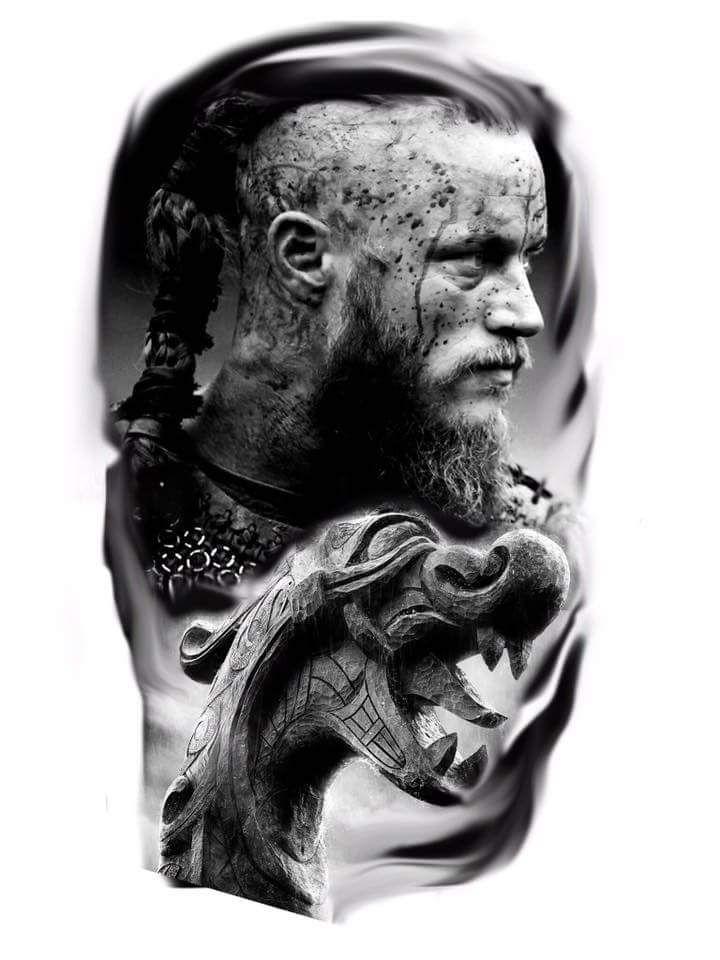 tatouage homme viking ragnar lothbrok id e tatouage realiste tatouage homme pinterest. Black Bedroom Furniture Sets. Home Design Ideas