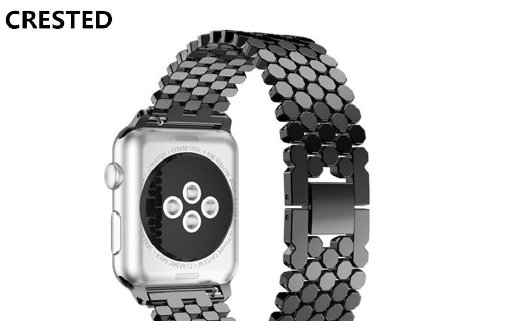 f154a5467 Best Price CRESTED Stainless Steel strap For Apple Watch 4 Band 44mm 40mm iwatch  4 3
