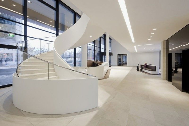 entrance hall of Modern and Contemporary Office in White Interior ...