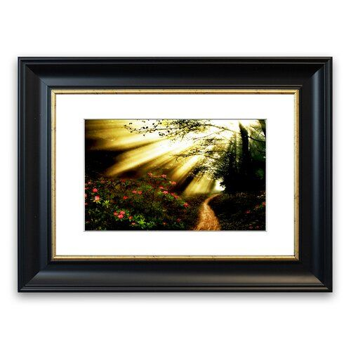 Photo of East Urban Home Mystic Garden Path 'Framed Photographic Print | Wayfair.de