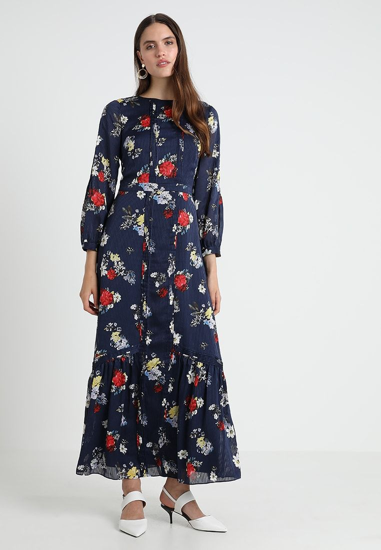 banana republic pintuck patrizia floral dress - maxi dress