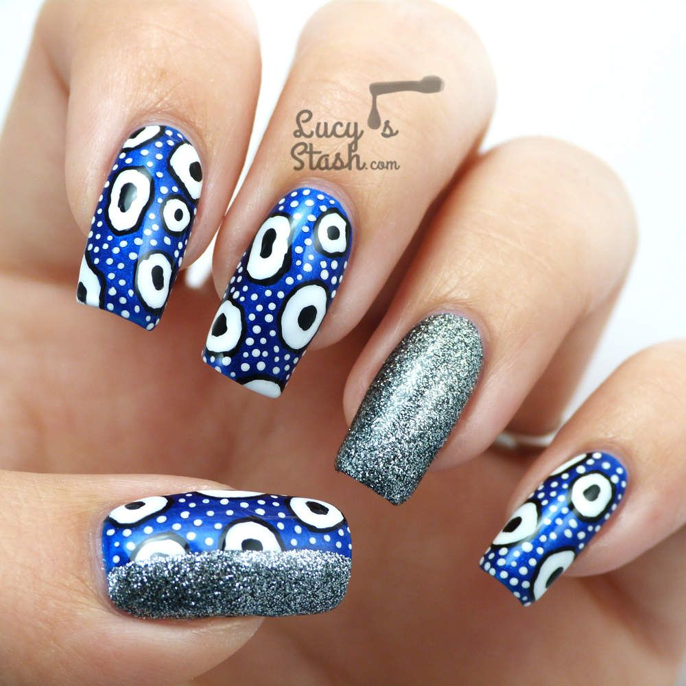 piCture pOlish Monday: Patterned Nail Art Design feat. Bomb Shell ...