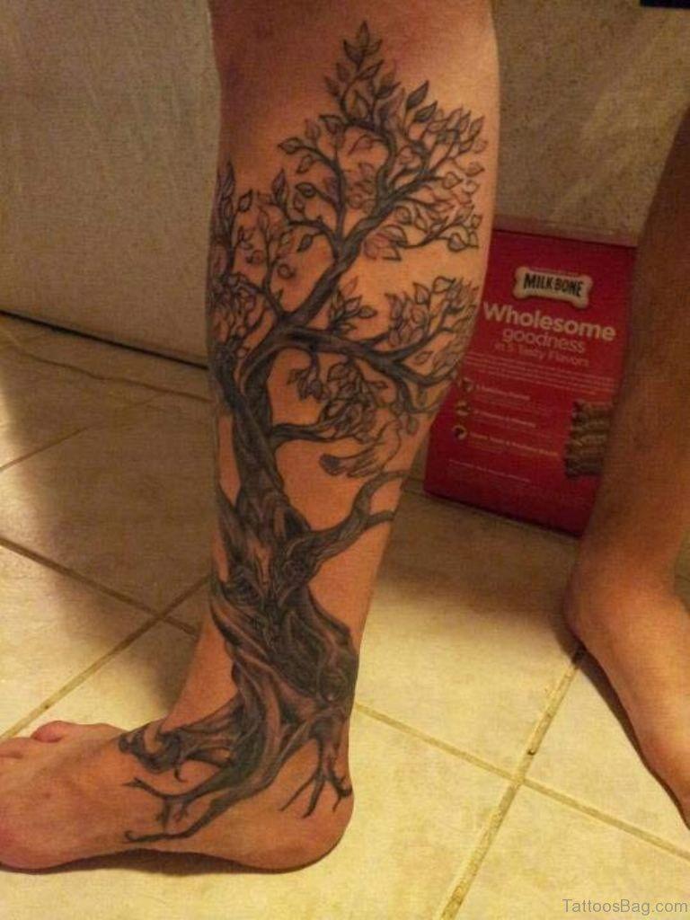 Pin By Chris Michalik On Tattoos Cherry Tree Tattoos Cherry Blossom Tattoo Tree Leg Tattoo