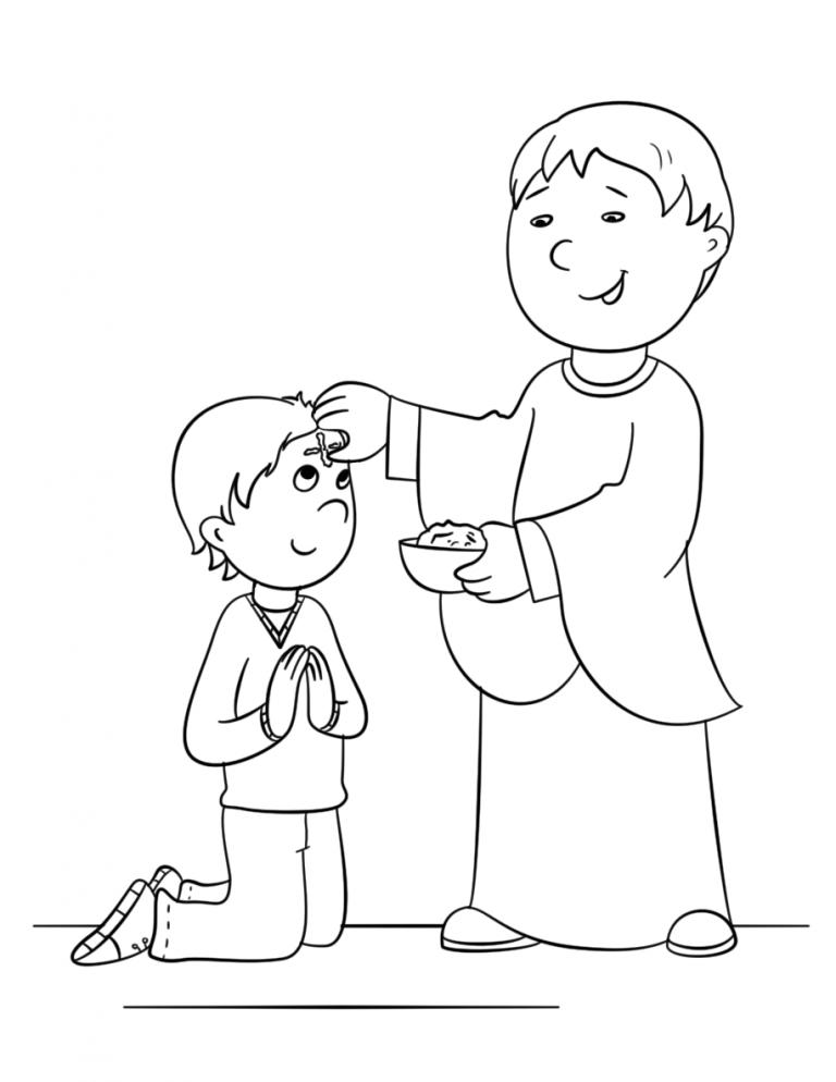 Free Ash Wednesday Coloring Pages Aschermittwoch Fastenzeit Religionsunterricht