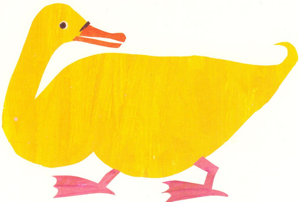 Yellow Duck Character Art Canvas Art Yellow Duck