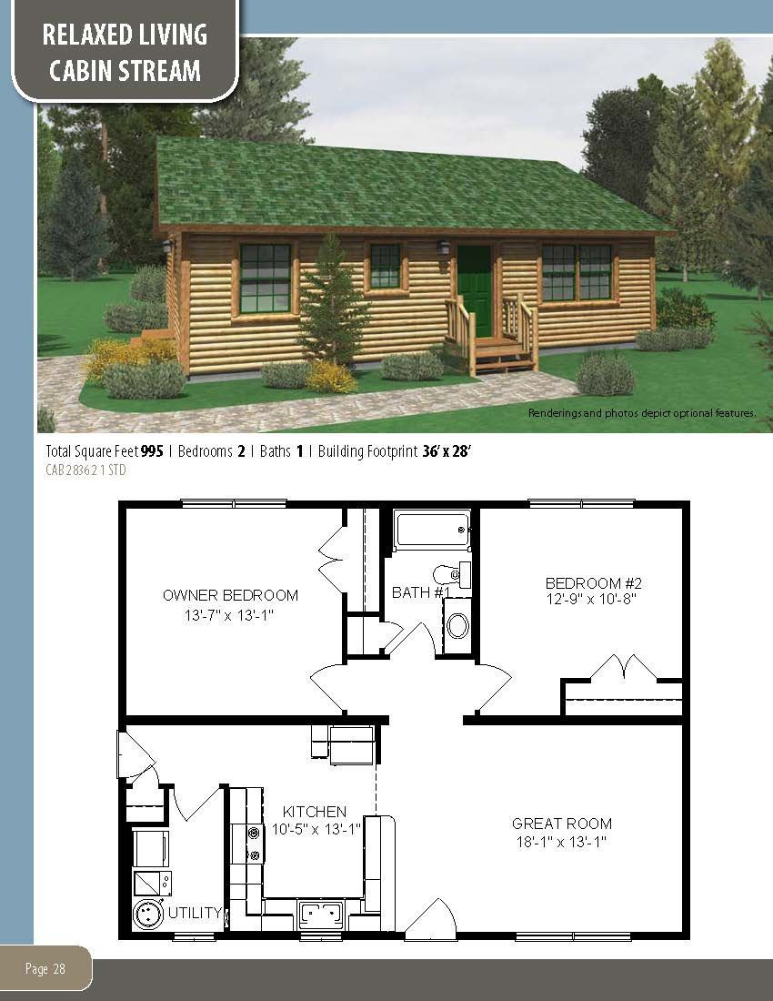 The Cabin Stream Visit Our Website To Learn More About Our Custom Homes Or To Download A Free Copy In 2020 My House Plans Pallet House Plans Small House Floor Plans