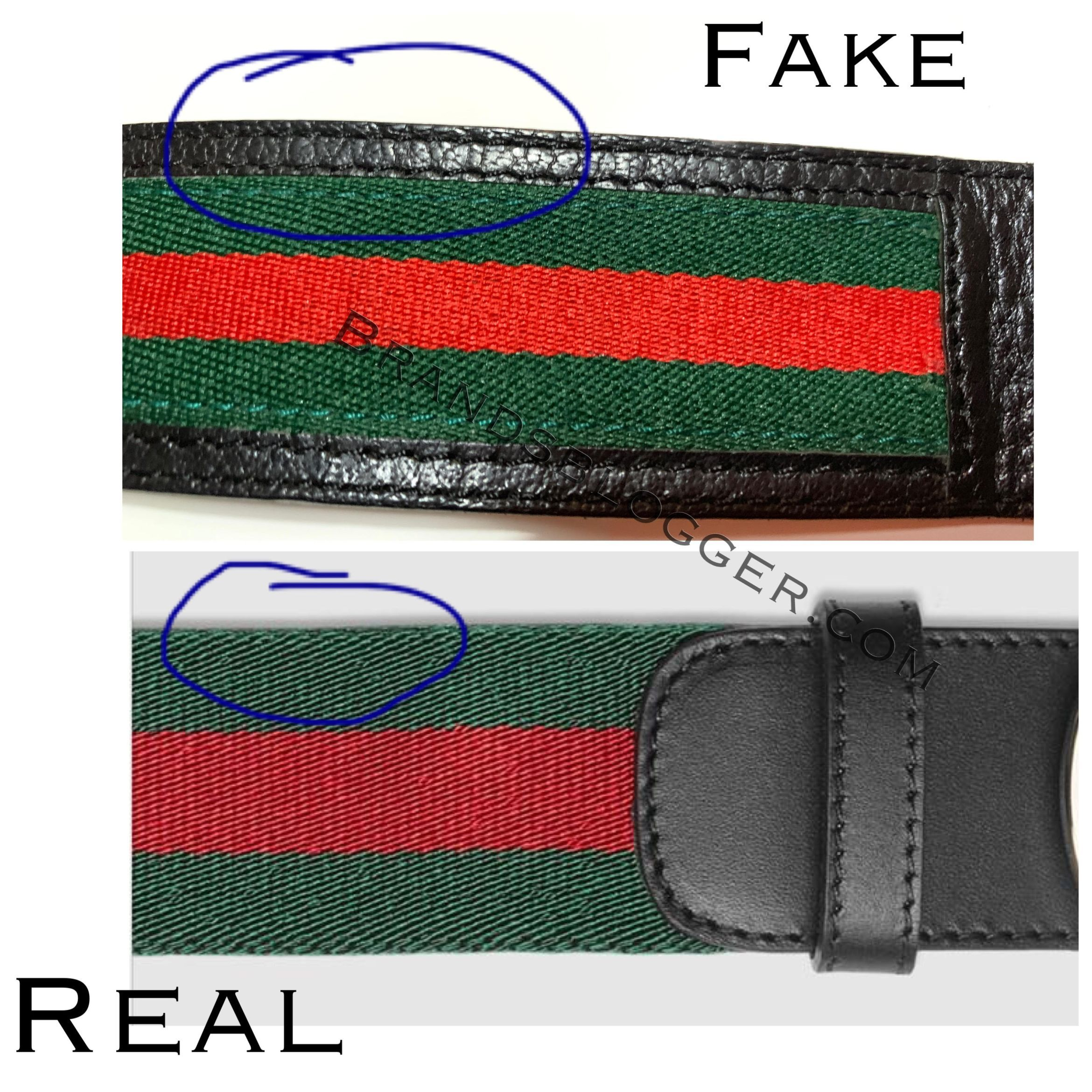 How to spot a fake gucci web belt with g buckle in 2020