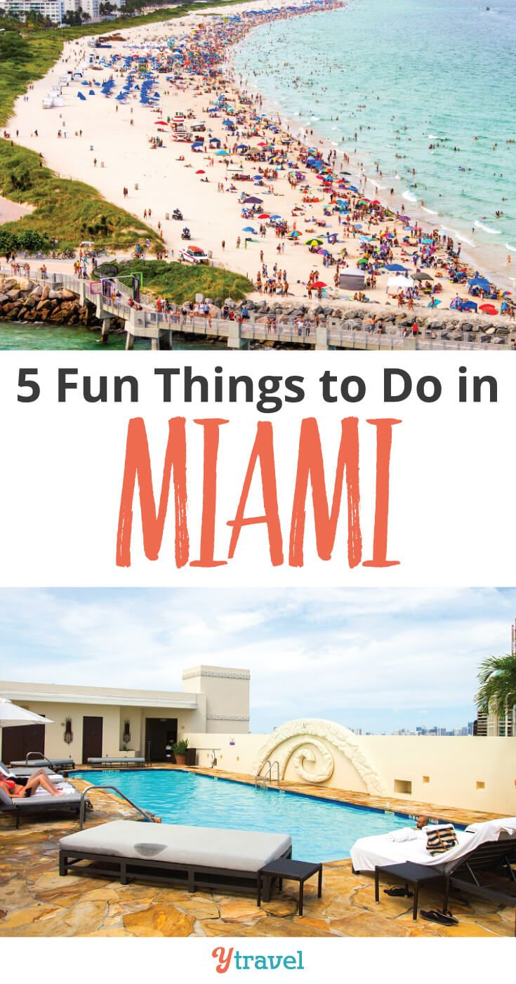 5 Things To Do In Miami Florida Are You Planning A Trip Beach Here Is Destination Guide On The City Click Through Learn About Fun