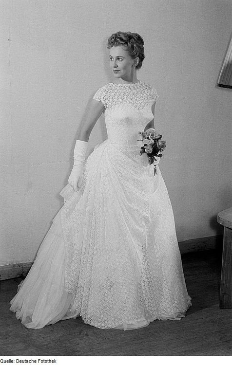1954 German Bride Vintage Wedding Gowns Bride Wedding Dresses